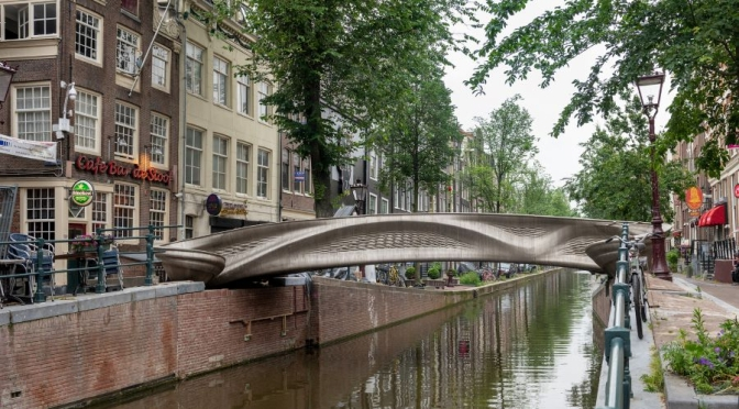 Design: World's First 3D-Printed Stainless Steel Bridge In Amsterdam