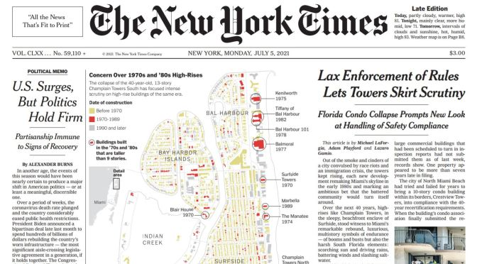 Front Page View: The New York Times (July 5, 2021)