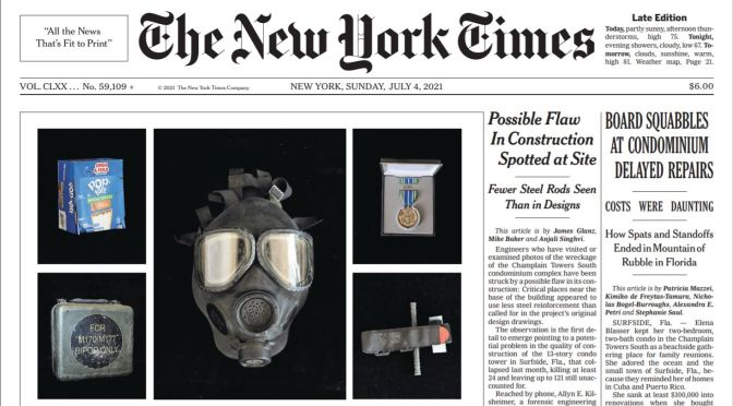 Front Page View: The New York Times (July 4, 2021)