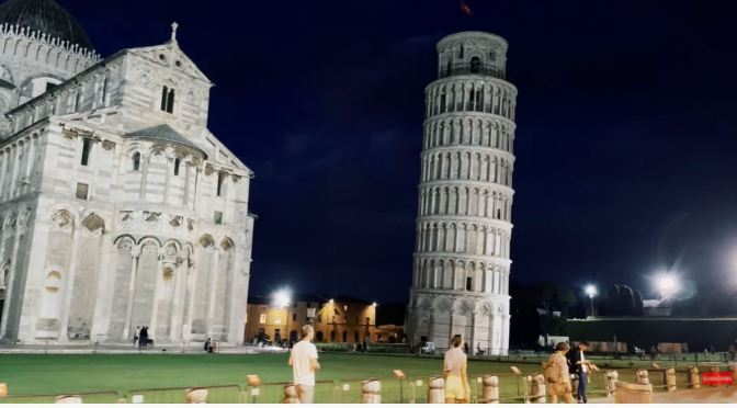 Night Walks: Pisa & The Leaning Tower In Italy