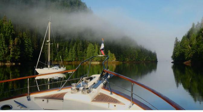 Sailing Views: Bottleneck Inlet In British Columbia