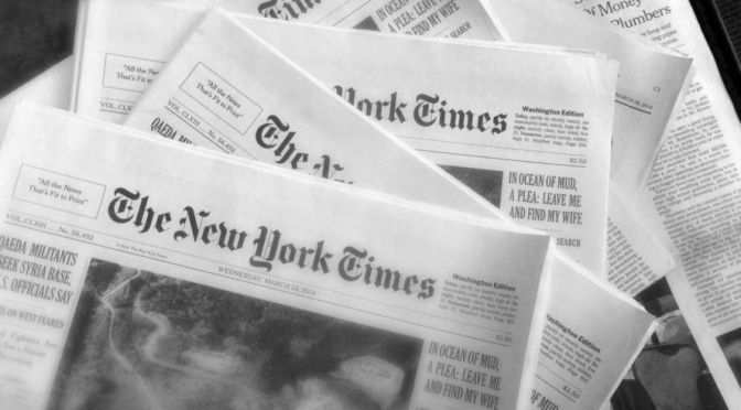 Front Page Views: The New York Times – August 22