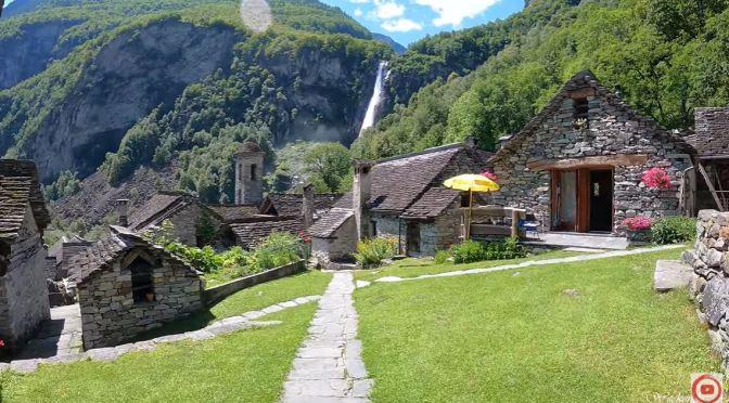 Swiss Villages: Foroglio – Waterfall In Ticino (4K)