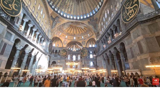 Inside Views: Hagia Sopia – Istanbul, Turkey (4K Video)