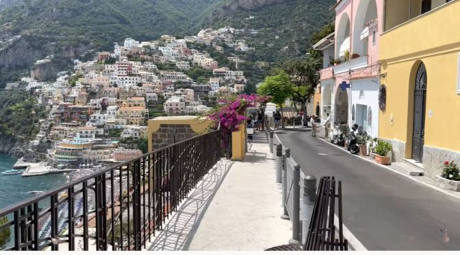 Walking Tour: Positano – Amalfi Coast, Italy (4K)