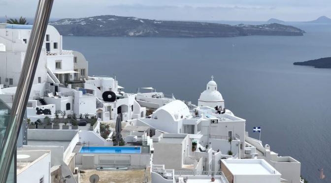 Walks: Thera, Island Of Santorini In Greece (4K)