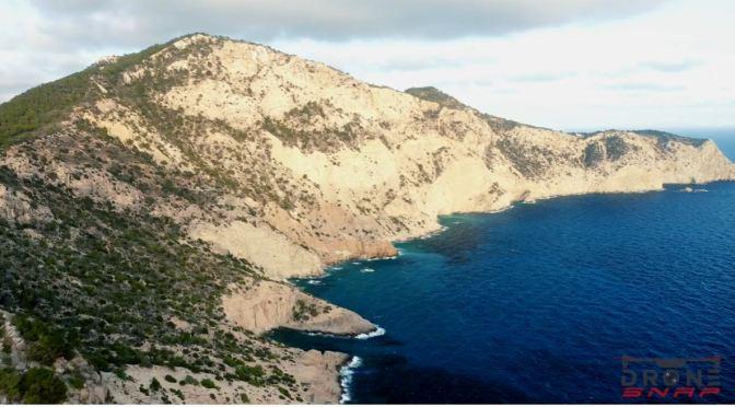 Aerial Views: Island Of Ibiza,   Spain (4K Video)