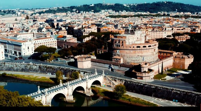 Aerial Views: Monuments Of Rome, Italy (4K Video)