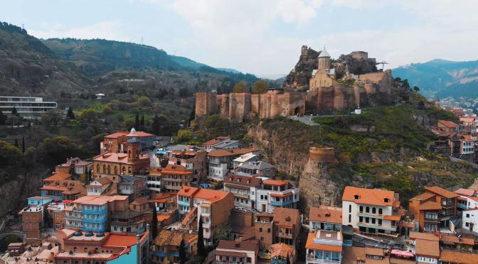 Aerial City Views: Tbilisi – Country Of Georgia (4K)