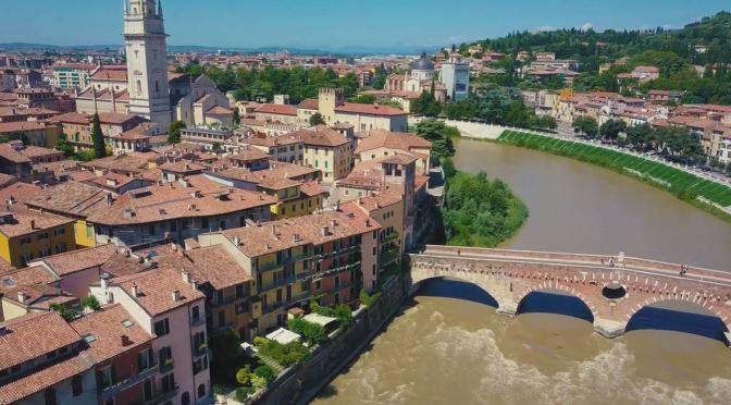 Aerial Views: Verona – Northeastern Italy (4K)