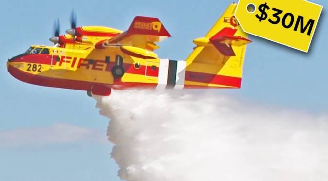 Views: $30 Million 'Super Scooper' CL-415EAF Plane Fighting U.S. Wildfires