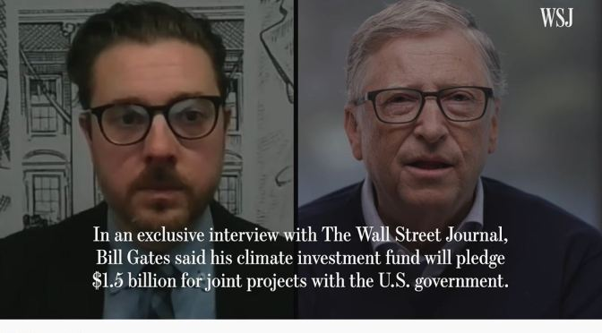 Interview: Bill Gates Will Commit $1.5B To Congress' Enacted Climate Projects