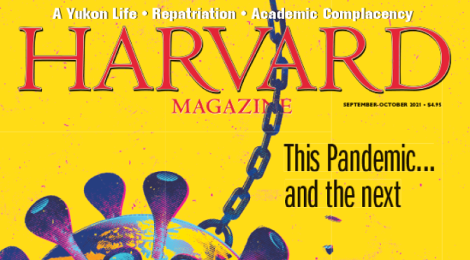 Front Covers: Harvard Magazine – Sept/Oct 2021
