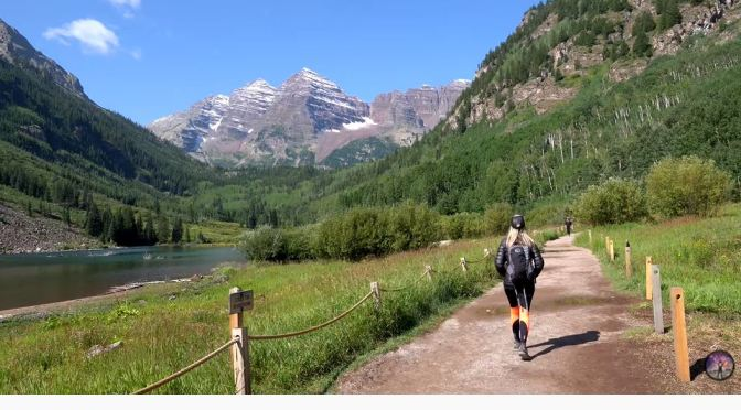 Trail Hikes: Maroon Bells On Crater Lake, Colorado