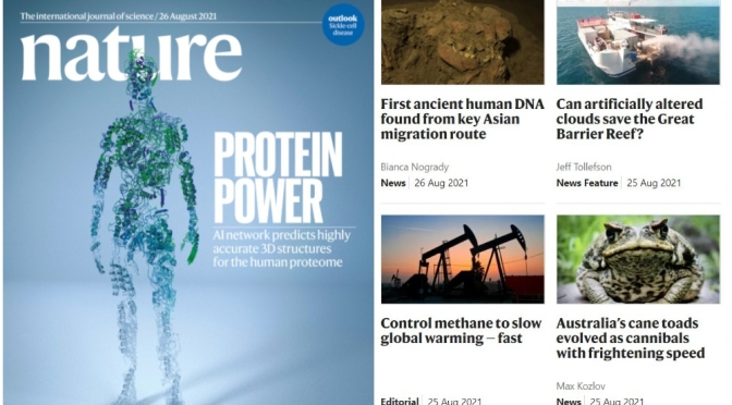 Front Covers: Nature Magazine – August 26