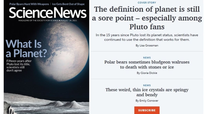 Front Covers: Science News – August 28, 2021