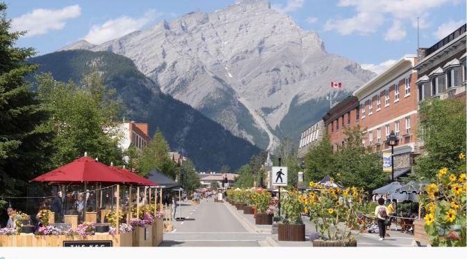 Summer Walks: Banff Village, Alberta, Canada