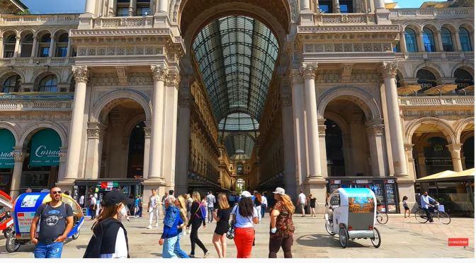 Walking Tour: Milan – Duomo & Gallery (4K)