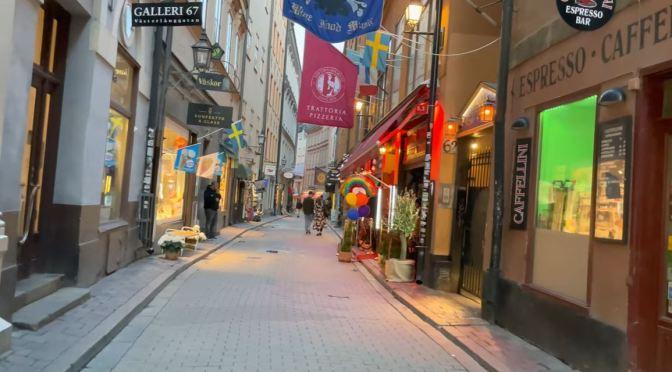 Walks: Slussen Area Of Stockholm, Sweden (4K)