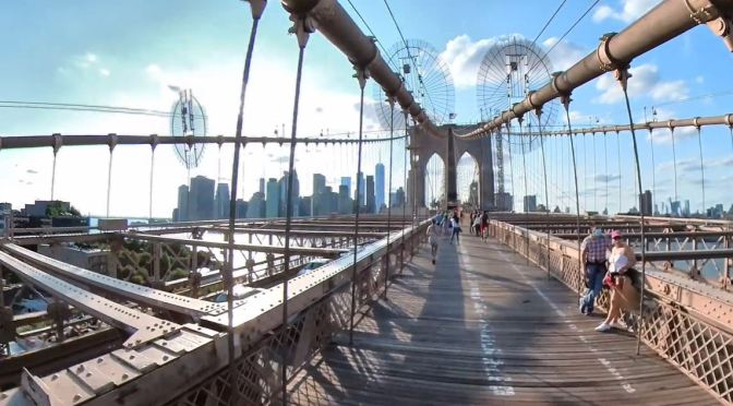New York Views: Walking The Brooklyn Bridge (4K)