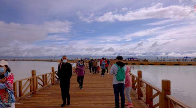 Walking Tour: Chaka Salt Lake In Qinghai, China (4K)