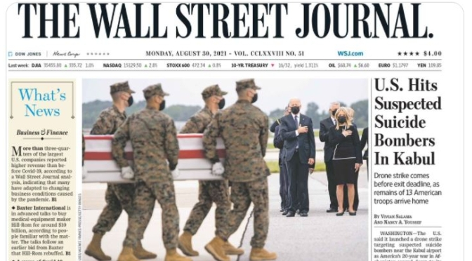 Front Page Views: Wall Street Journal – Aug 30
