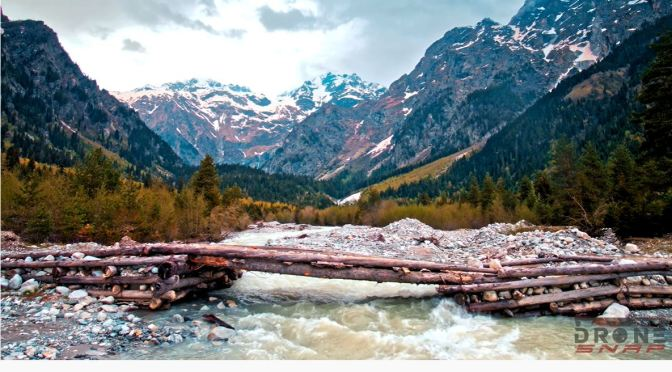Aerial Views: Caucasus Mountains (4K Videos)