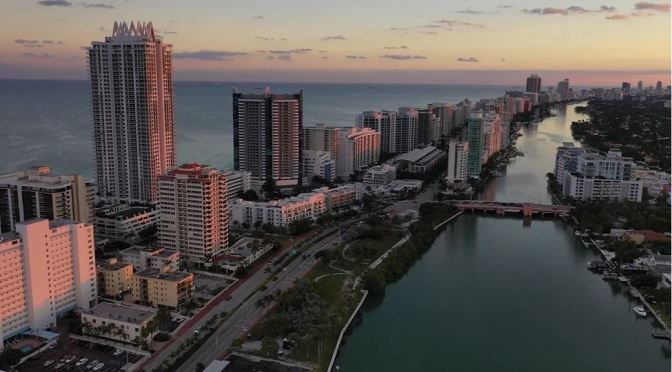Aerial Views: Miami In Southeast Florida (4K)
