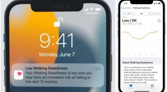 Elderly Health Apps: Apple iPhone Fall Prevention