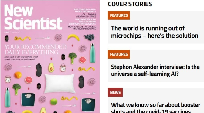 Front Cover Preview: New Scientist Magazine – SEP 11