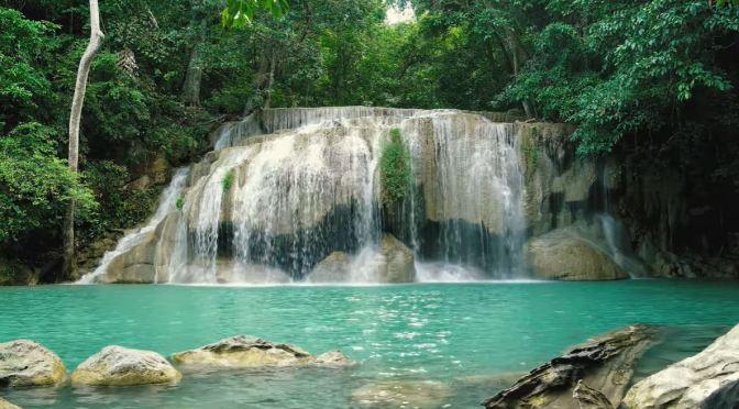 Views: Erawan Waterfalls In Western Thailand (4K)