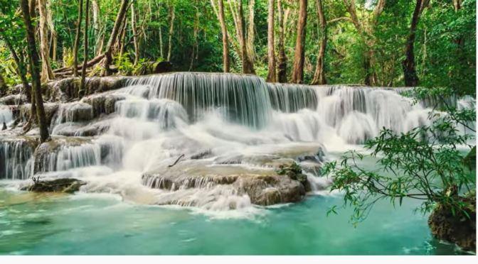 Views: Huai Mae Khamin Waterfalls, Thailand (4K)