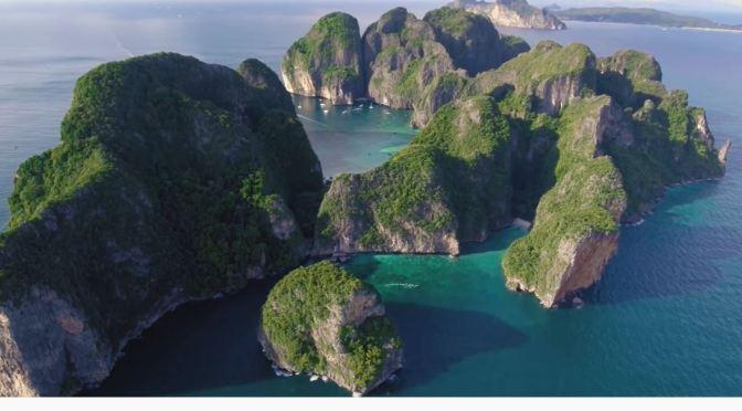 Aerial Views: Phi Phi Islands, Thailand (4K)