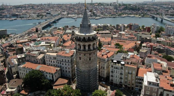Travel: Views From Galata Tower In Istanbul, Turkey