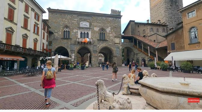 Walking Tour: Bergamo – Northern Italy (4K)