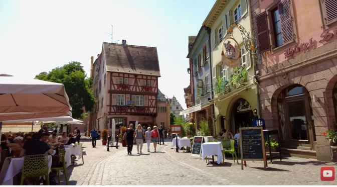 Walking Tours: Colmar In Alsace Region, France (4K)