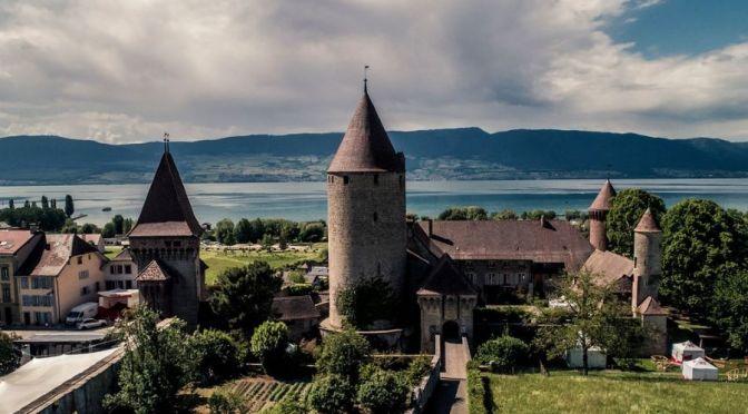 Walking Tour: Estavayer-le-Lac, Switzerland (4K)