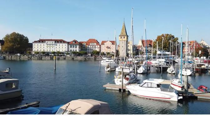 Walks: Lindau On Lake Constance In Germany (4K)