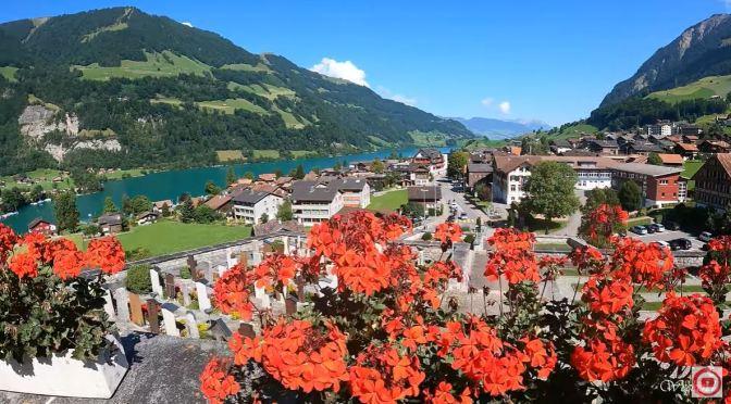 Walks: Lungern Village And Lake, Switzerland (4K)