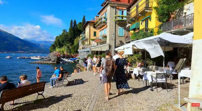Village Walks: Varenna On Lake Como In Italy (4K)