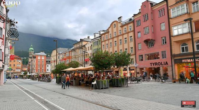 Walking Tour: Innsbruck In Western Austria (4K)