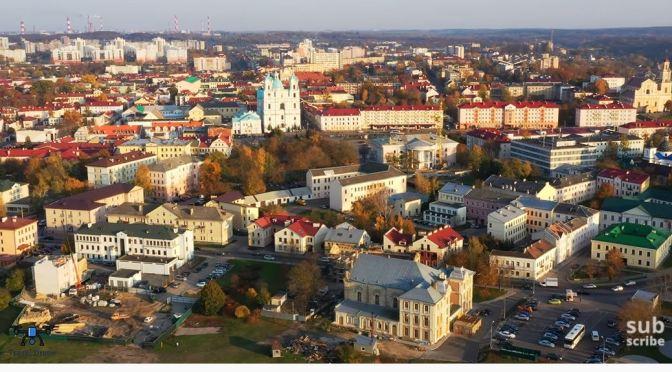 Aerial Views: Grodno In Western Belarus (4K)