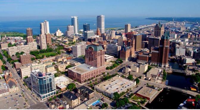 Aerial Views: Milwaukee In Southeast Wisconsin (4K)