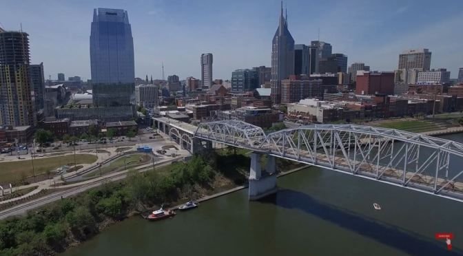 Aerial Views: Nashville – Capital Of Tennessee (4K)