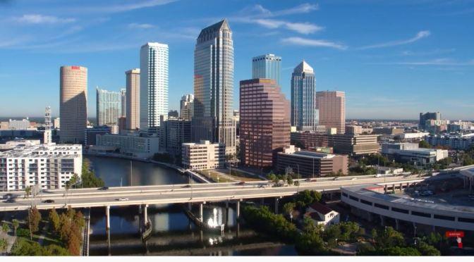 Aerial Views: Tampa In Western Florida (4K)