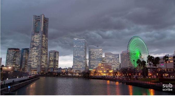 Aerial Views: Yokohama – Southern Japan (4K)
