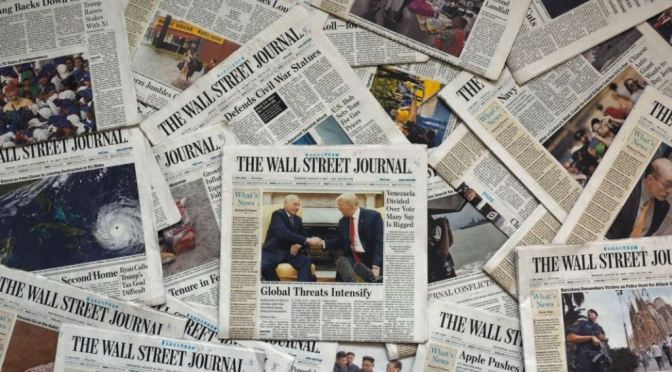 Front Page Views: Wall Street Journal – OCT 12