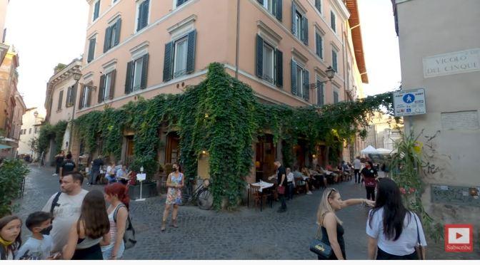 Walking Tour: Trastevere In Central Rome, Italy (4K)