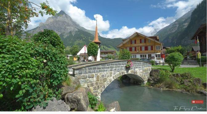 Resort View: Kandersteg In West Switzerland (4K)