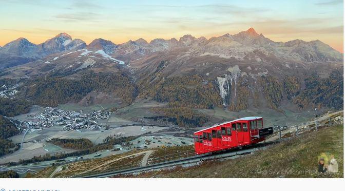 Swiss Views: Golden Larch Trees In Muottas Muragl